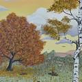 Birch And Oak Frienship by Georgeta  Blanaru