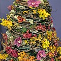 Birch And Orchid Twig Dress Exhibit Piece by Jane Butera Borgardt