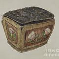 Birch Bark Sewing Basket by John Cooke