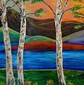 Birch By The Lake by Lynda Luburic