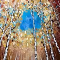 Birch Forest by Monica Pope