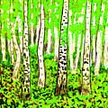 Birch Forest, Painting by Irina Afonskaya