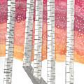 Birch In The Snow by Karlie White