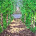Birch Path by Alan Hogan