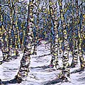 Birch Tree Mosaic 2 by Megan Walsh