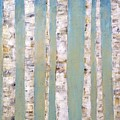Blue Birch Trees by Judith Cahill
