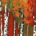 Birch Trees In An Autumn Forest by Anastasiya Malakhova