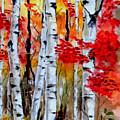 Birch Trees In Fall by Rafael Salazar