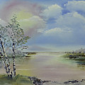 Birch Trees Landscape by Jim McGraw
