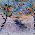 Birch Trees On The Ridge 2 by Reed Novotny