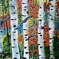 Birch Tree's by Rona Playda