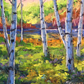 Birches 01 by Richard T Pranke