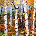 Birches 03 by Richard T Pranke