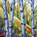 Birches 09 by Richard T Pranke