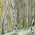Birches Before Spring by Brenda Owen