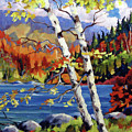 Birches By The Lake by Richard T Pranke