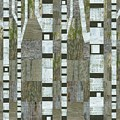 Birches With Wooden Background by Michelle Calkins