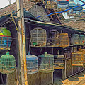 Bird Cages Vintage Photo Indonesia by Cathy Anderson