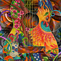 Bird Of Fire Guitar by Julie Oakes