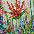 Bird Of Paradise In An Imaginary Garden by Joan Clear