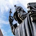 Bird On Grgur Ninski Sculpture By Ivan Mestrovic, Split, Croatia by Global Light Photography - Nicole Leffer