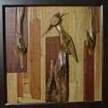 Bird Painting With Wooden Waste by Pooja Shirke
