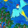 Bird People Green Woodpecker by Sushila Burgess