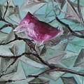 Bird Submerged In Leaves by Nima Honarbakht