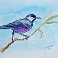 Bird. Watercolor by Yuliya Schuster