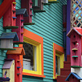 Birdhouses For Colorful Birds 3 by Bob Christopher