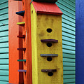 Birdhouses For Colorful Birds 6 by Bob Christopher