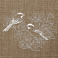 Birds And Burlap 2 by Brandi Fitzgerald