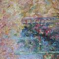 Birds Boaters And Bridges Of Barton Springs - Autumn Colors Pedestrian Bridge by Felipe Adan Lerma