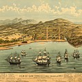Birds Eye View Map Of San Francisco 1846 by Mountain Dreams