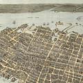 Birds Eye View Of Charleston 1872 by Keith Dotson