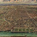Birds Eye View Of Chicago 1916 by Mountain Dreams