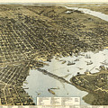 Birds Eye View Of Jacksonville Florida 1893 by Bill Cannon