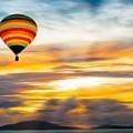Birds Eye View Of Sunset by Jack Bunds