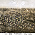 Birds Eye View Of The City Of Coldwater, Michigan - 1868 by Pablo Romero
