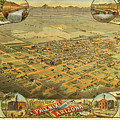 Bird's Eye View Of The City Of Phoenix Arizona by C J Dyer
