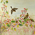 Birds In Autumn by Ying Wong