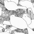 Birds In Pine by Jean Stark