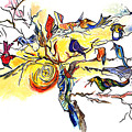 Birds On A Branch by Lily Hymen