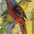 Birds On A Map by Jillian Goldberg
