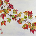 Birds On Maple Tree 1 by Ying Wong