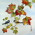 Birds On Maple Tree 9 by Ying Wong