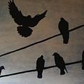 Birds On Wire by Eddie Barron
