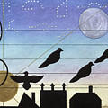 Birds On Wires by Sally Appleby