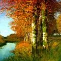 Birken Am Moorgraben 1896 by Ende Hans am
