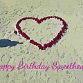 Birthday Card For Sweethearts by John Malone